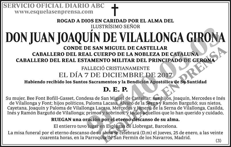 Juan Joaquín de Vilallonga Girona